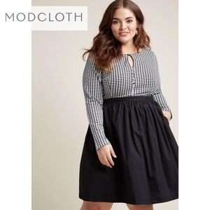 Modcloth Twice As Timeless Houndstooth Dress XL